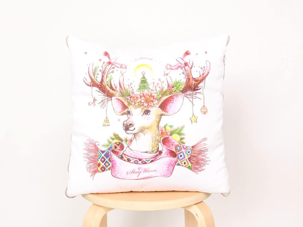Cushiong quilt-CHristmas deer (Custom)