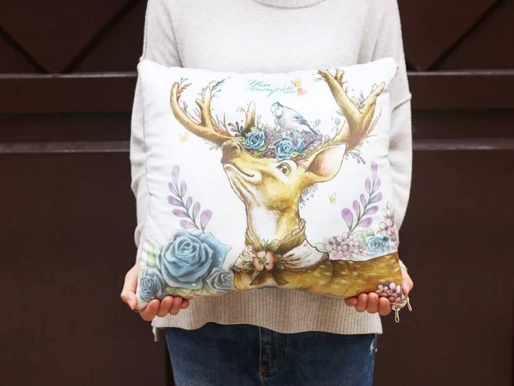 cushion quilt-Rose deer (Custom)